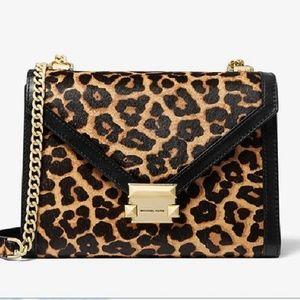 Whitney Leopard Calf Hair Convertible Shoulder Bag